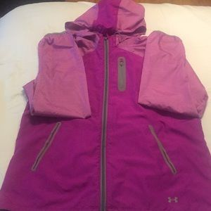 Under Armour Women's Heat Gear Pink Jacket Sz XL
